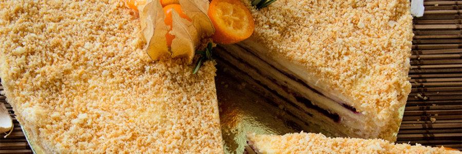 """Торт """"Наполеон"""" - Кондитерская Десертика - Капкейки, бисквитные и муссовые торты, десерты, эклеры в Санкт-Петербурге"""